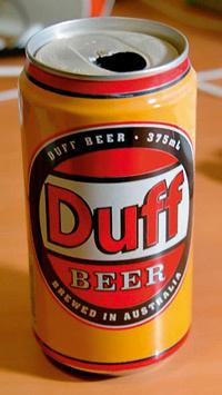 Пиво Duff можно купить на аукционах