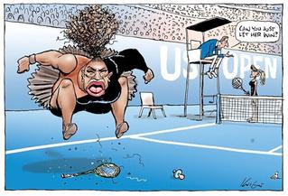 СМИ вступаются за художника, которому угрожали расправой за карикатуру на Серену Уильямс