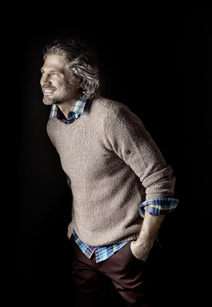 Джемпер Navigare, рубашка Gant, слаксы U.S. Polo Assn.