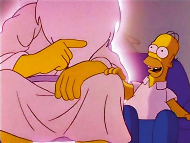 Бог в Симпсонах с пятью пальцами