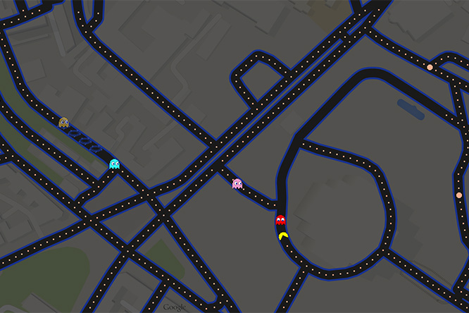 Фото №2 - Вака-вака в городе! На Google maps теперь можно поиграть в Pac-Man