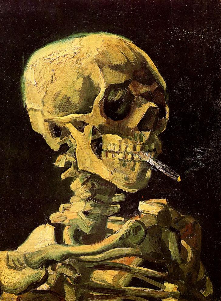 Ван Гог, «Череп с сигаретой»