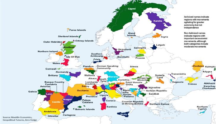 Фото №2 - Уголок сепаратиста: посмотри, какие еще регионы в Европе, кроме Каталонии, жаждут независимости