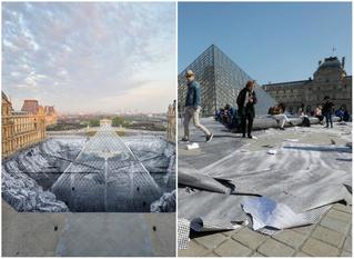 Туристы всего за 6 часов уничтожили оптическую иллюзию вокруг Пирамиды Лувра