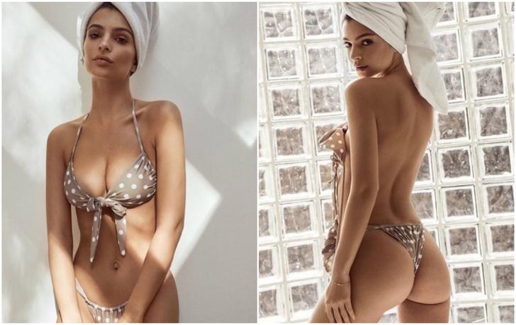 Фото №1 - Эмили Ратаковски сама демонстрирует купальники из собственной коллекции!