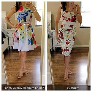 Hurry which one?? Audrey inspired girls brunch @ted_baker or @dolcegabbana?