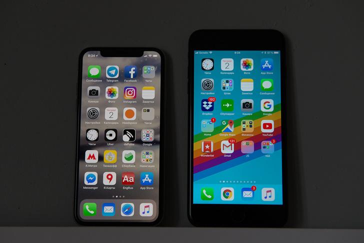 По размерам он всего на 4 мм шире и на 5 мм длиннее, чем iPhone 8