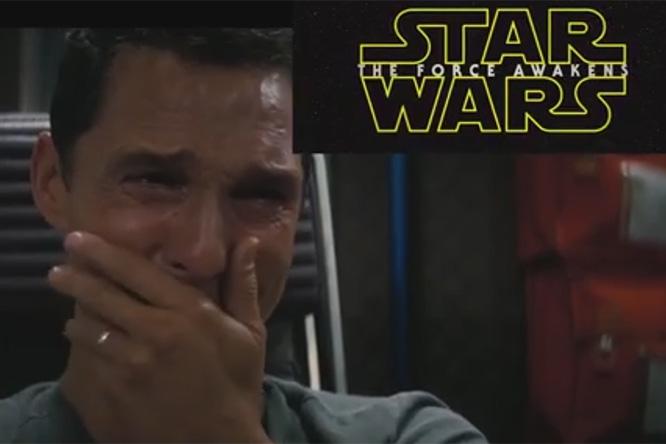 Фото №1 - Макконахи в «Интерстелларе», оказывается, косплеил фанатов Звездных Войн!