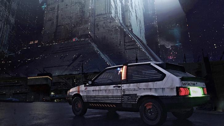 Фото №2 - Житель Екатеринбурга создает автомобили как из игры Cyberpunk 2077 и фильмов про жуткое техногенное будущее (много фото)
