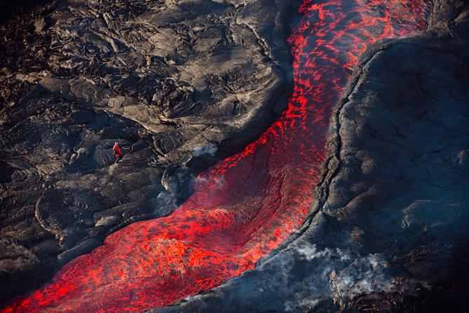 Камчатка  Извержение вулкана Плоский Толбачик