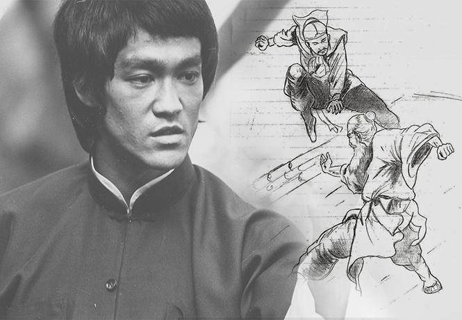 Фото №1 - Дракон виляет карандашом: рисунки Брюса Ли