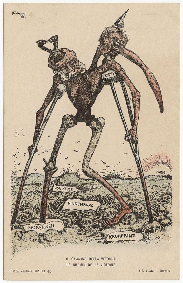Фото №16 - Жутковатые карикатуры Первой мировой