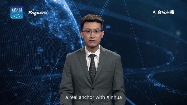Фото №1 - Китай показал первого искусственного ведущего новостей (видео)
