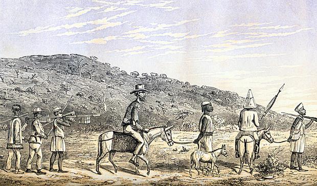 Бертон в Восточной Африке. Рисунок