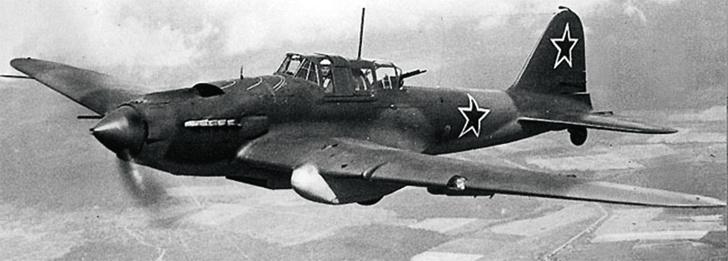 Взлетел советский самолет Ил-2— родоначальник принципиально нового специализированного типа боевых летательных аппаратов «штурмовик». 1940
