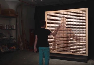 Хор пингвинов и каскад вееров. Художник делает живые кинетические скульптуры (ВИДЕО)