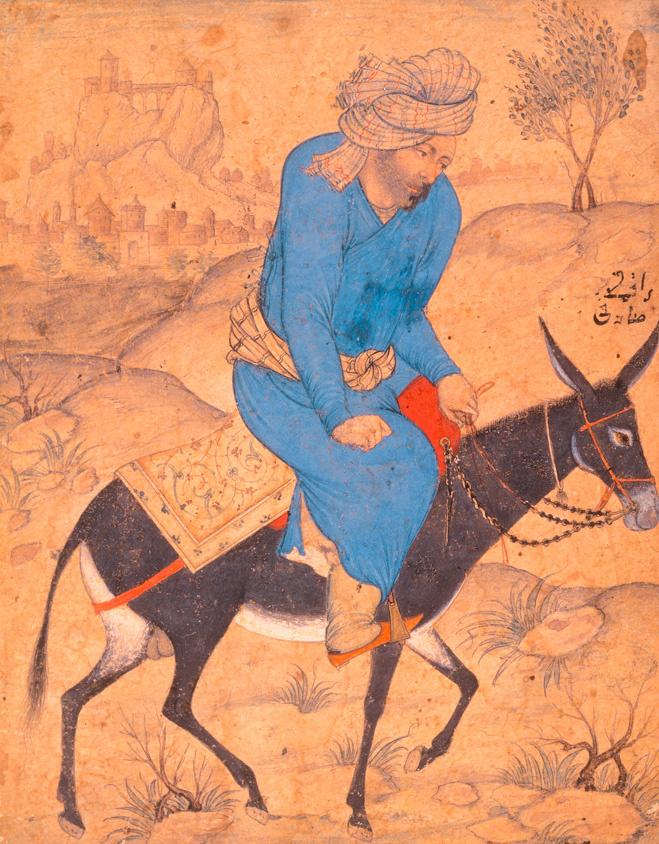 «Мужчина на осле», Садигибек Афшар, XVI в.