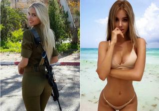 15 опасных фотографий бывшей израильской военнослужащей в купальнике