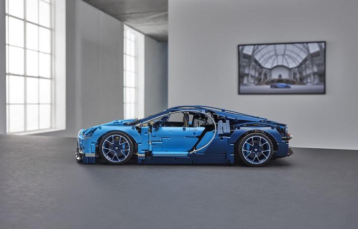LEGO сделали Bugatti Chiron! Из кубиков, разумеется, не настоящую, это же LEGO
