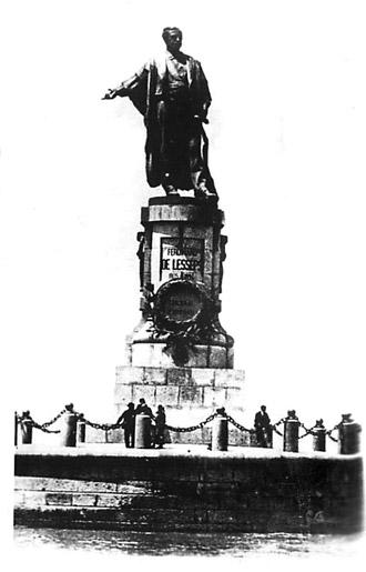 Памятник Лессепсу  в Порт-Саиде