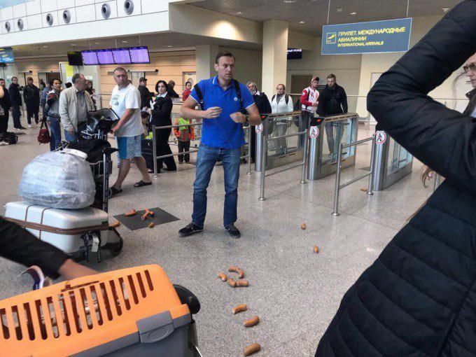 Фото №1 - Лучшие шутки о нападении на Навального с сосисками!