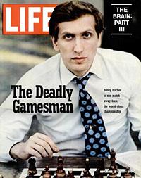 Бобби Фишер на обложке журнала LIFE