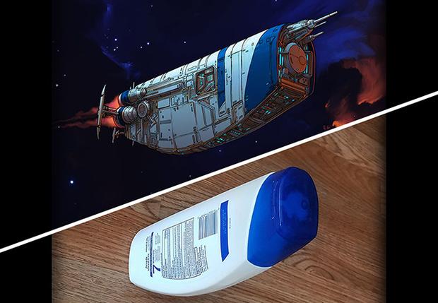 Фото №1 - Художник превращает обычные предметы в космические корабли