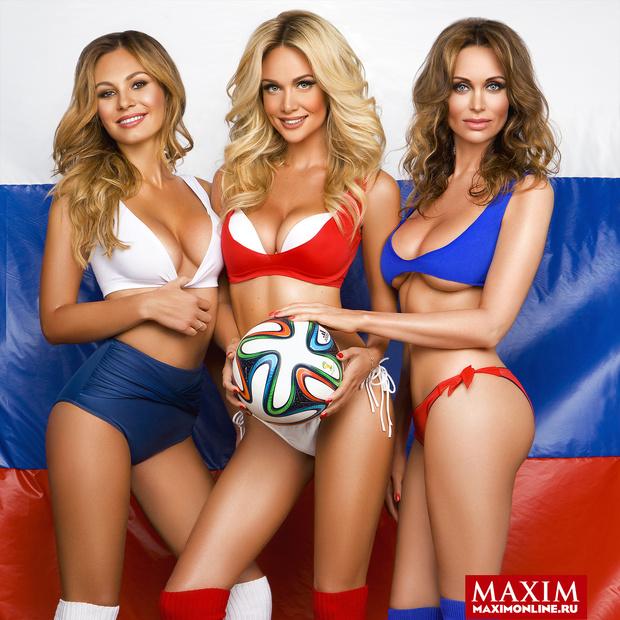 Фото №3 - Красавицы и кубок. Жены футболистов  сборной России позируют и желают победы!