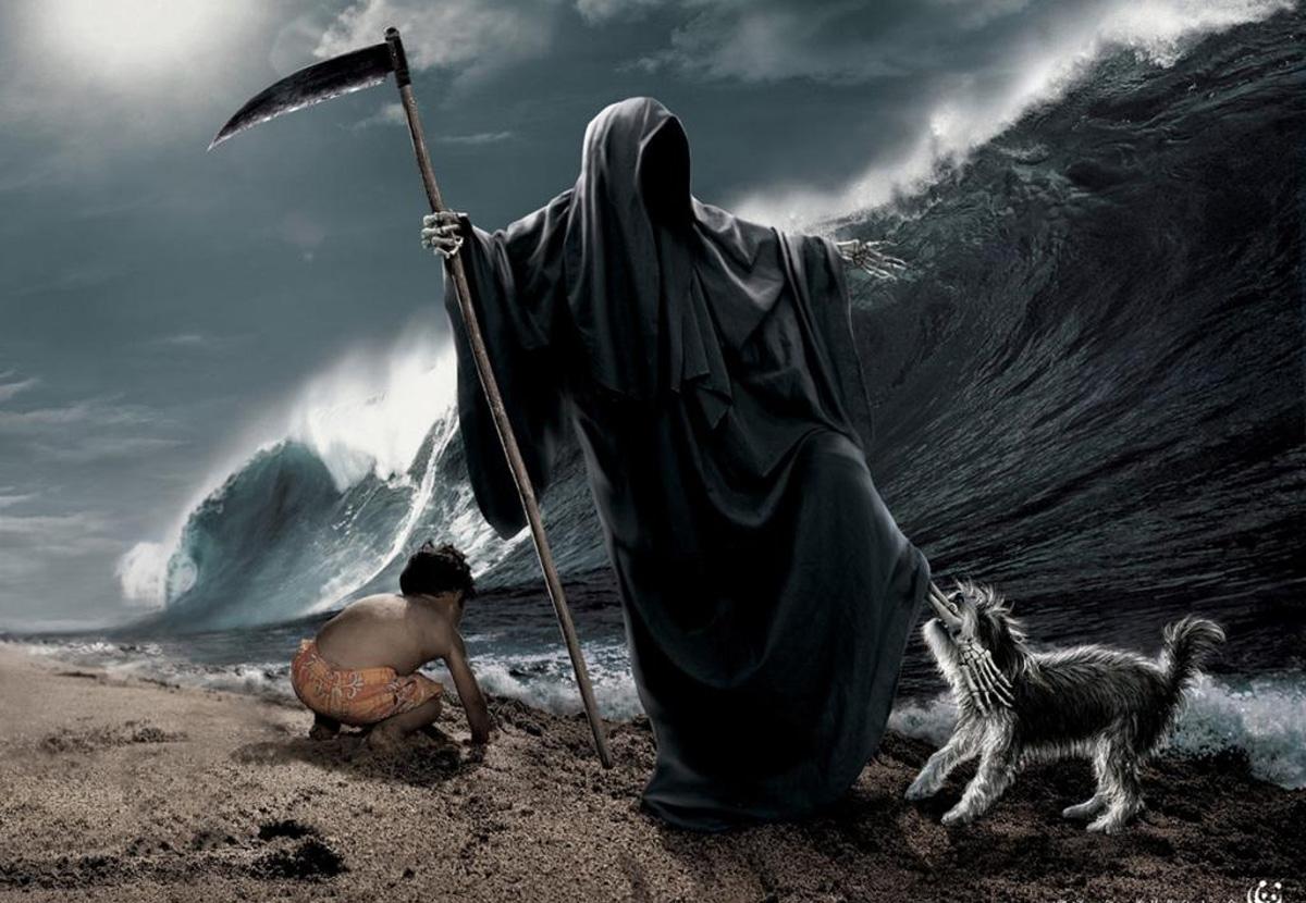 Картинка смерти и жизни человека