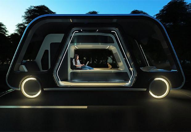 Фото №1 - Кибер-отель на колесах: в Америке придумали транспорт будущего