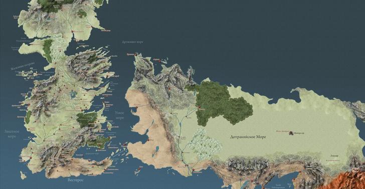 Фото №1 - Ликуй, фанат «Игры престолов»! Карта Вестероса впервые на русском!