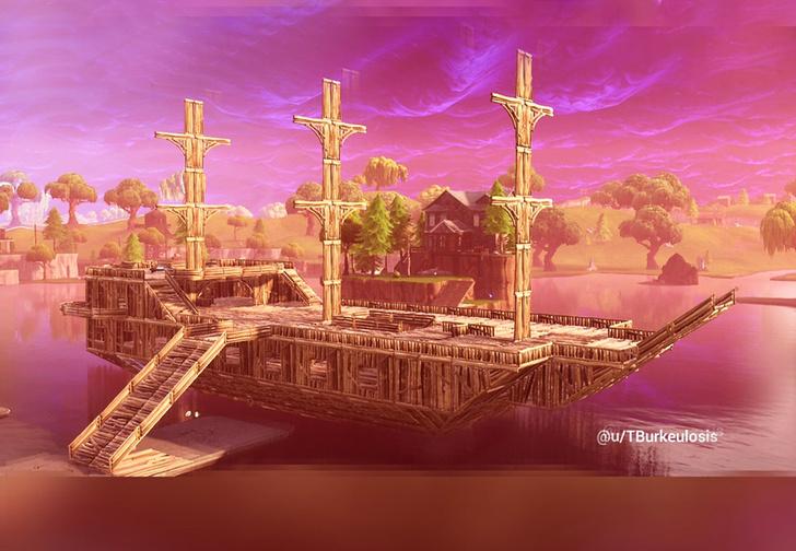 Фото №3 - Игроки в Fortnite устроили выставку архитектурных шедевров на Reddit.