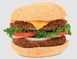 Гамбургер с мясной котлетой
