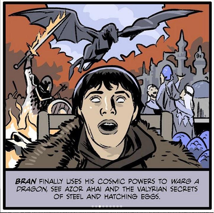Фото №3 - Спасение Миссандеи и ледяные пауки: художник нарисовал сцены, которых не хватает в «Игре престолов»