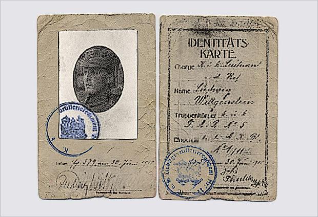 Военное удостоверение Витгенштейна