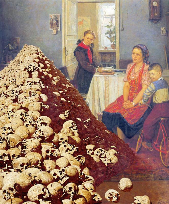 или распечатайте картинка с черепами третьяковская галерея хорошо, что среди
