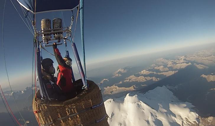 Фото №4 - Совершен рекордный перелет через Эльбрус на тепловом аэростате