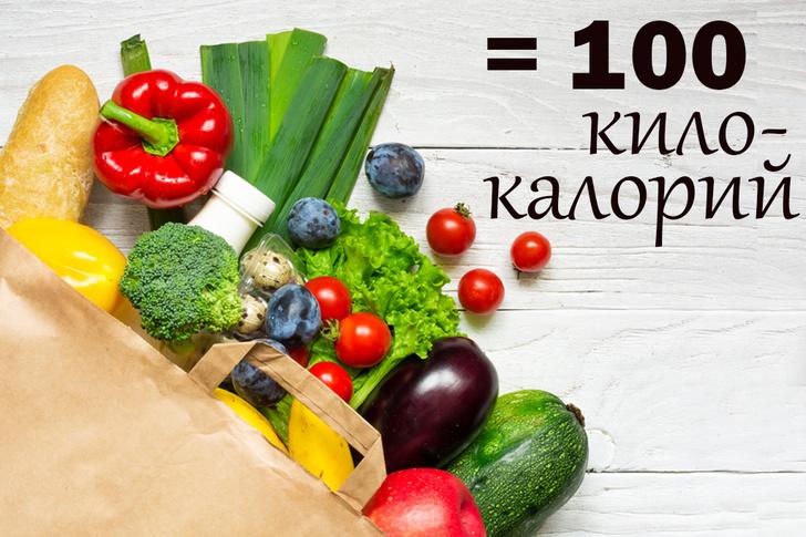 Фото №1 - Вот сколько еды помещается в 100 килокалориях (39 наглядных фото)