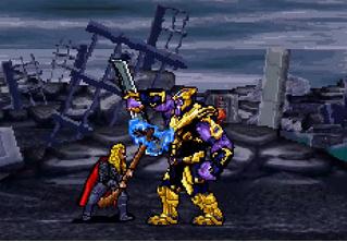 Сцену сражения с Таносом из последних «Мстителей» воссоздали в 16-битной версии (видео)