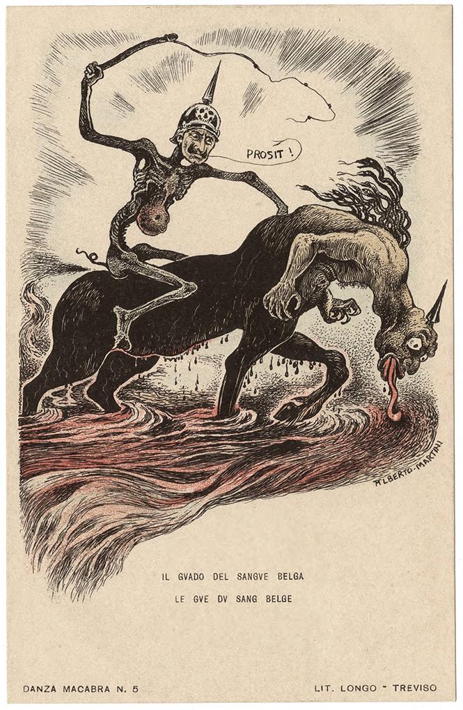 Фото №30 - Жутковатые карикатуры Первой мировой