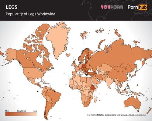 Фото №3 - Грудь или попа? Географическая карта, показывающая, что популярнее в разных странах