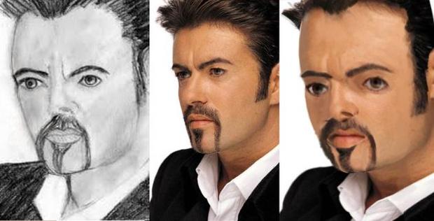 Фото №2 - Как бы выглядели знаменитости, если бы были похожи на портреты, нарисованные фанатами!