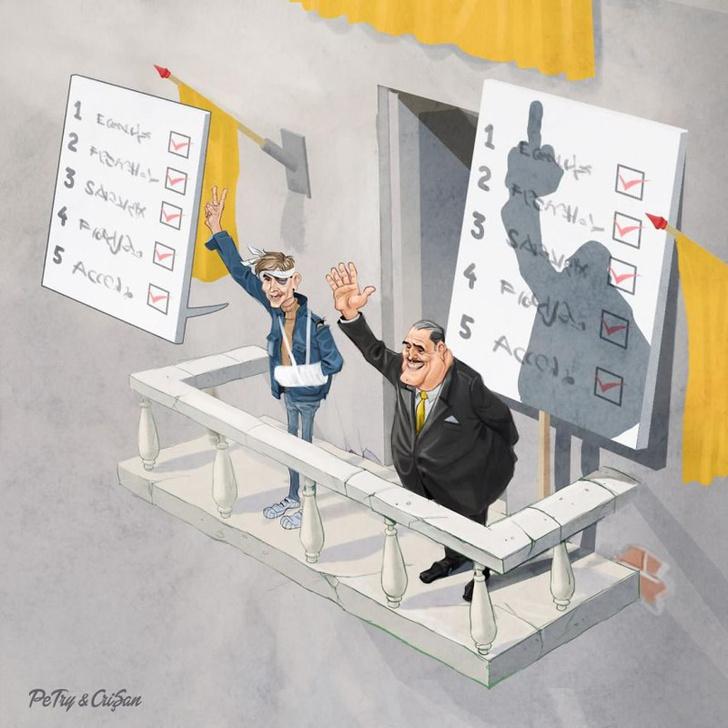 Фото №4 - Злободневные и смешные иллюстрации румынского дуэта художников