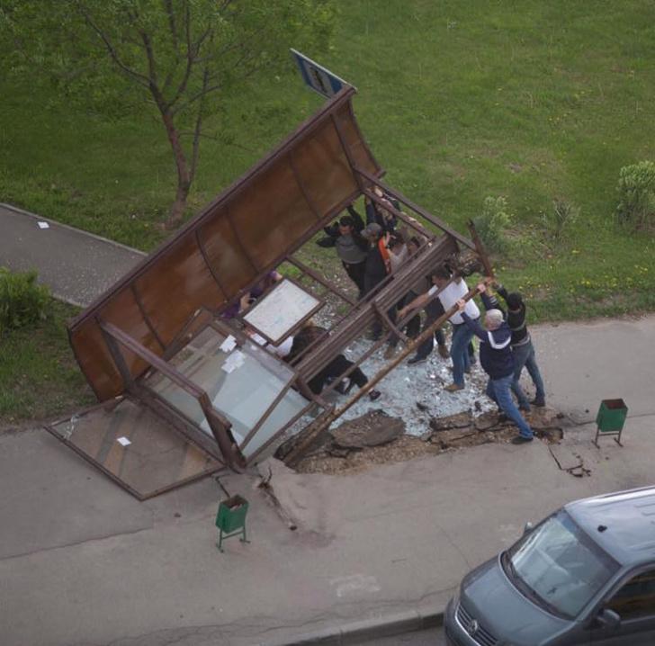 Фото №4 - Ураган в Москве: подборка самых пугающих видео и фото!