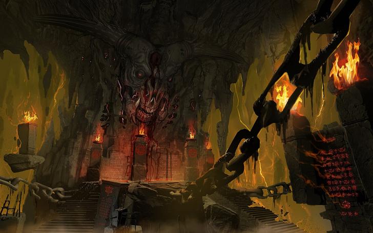 Фото №8 - Doom! Ад! Сатана! Дьявольски кровавые и эксклюзивные концепт-арты из грядущего игроужастика