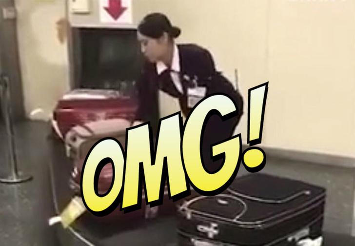 Фото №1 - Вот как в японском аэропорту обращаются с багажом! Поражающее ВИДЕО