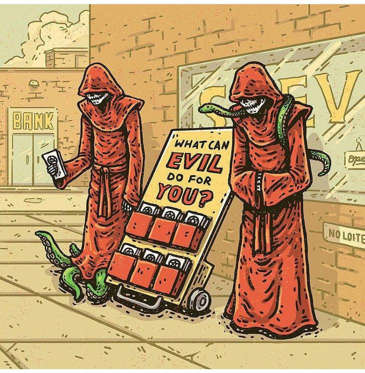 Фото №3 - Сатана, кровища и извращения: лучшие иллюстрации из журнала Nakid