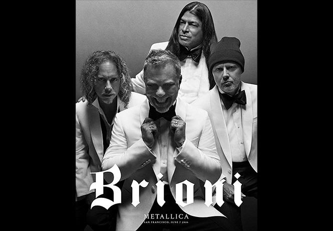Metallica стала лицом фэшн-бренда Brioni!
