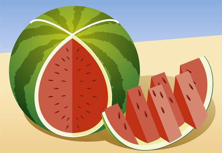 Фото №1 - 8 способов разрезать и съесть арбуз