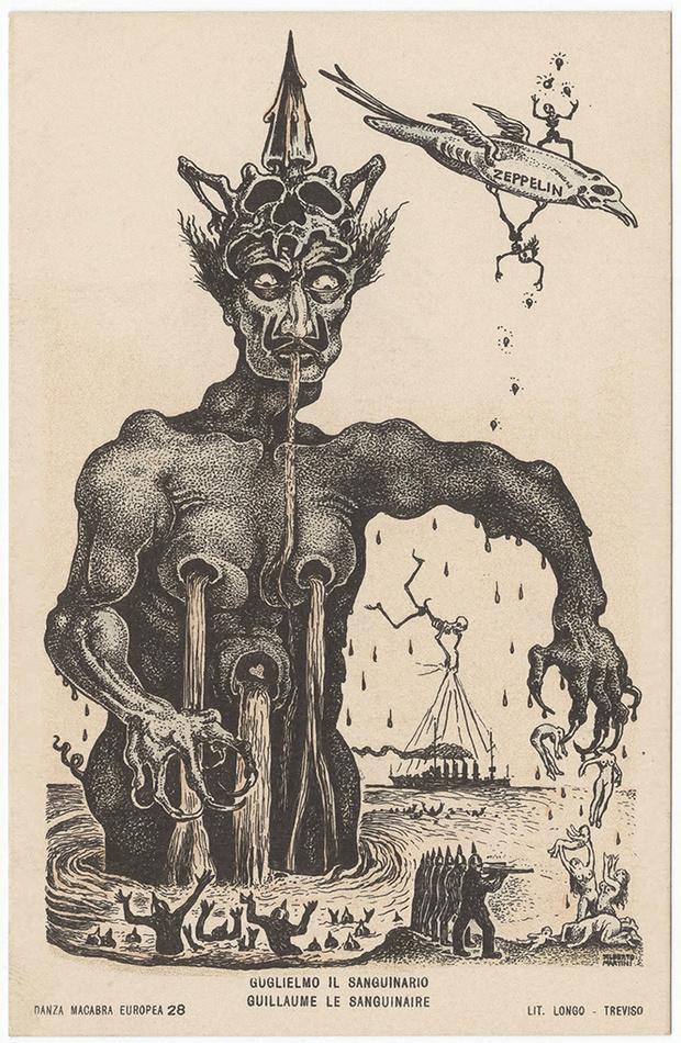 Фото №5 - Жутковатые карикатуры Первой мировой
